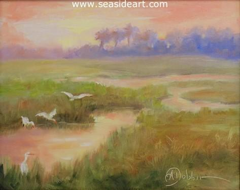 Midsummer Morning is an oil painting by Alice Ann Dobbin