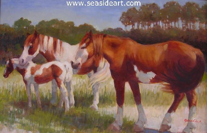 Paints at Wanchese is an oil painting by Jean Cook
