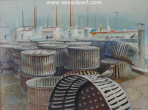 Steamers is an original acrylic painting by the artist, Allan Jones