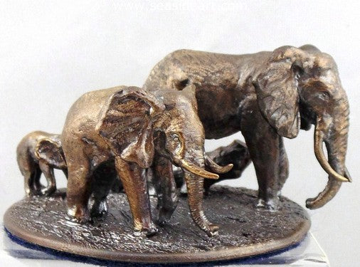 The Elephant Family is a miniature bronze sculpture by Paul Eaton.