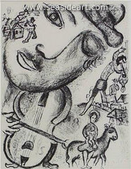 Le Cirque No. 513  is an original lithograph printed in black ink on Arches wove paper  by Marc Chagall, circa 1967
