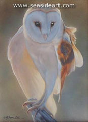 Morning's Light - Barn Owl is a watercolor painting by Rebecca Latham