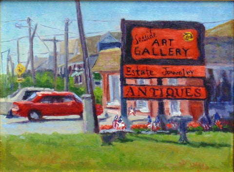 Seaside Art Gallery, painting by Suzanne Morris