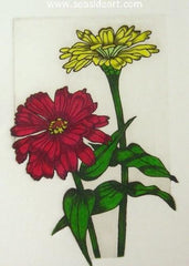 Zinnia Study is an etching by James Shell