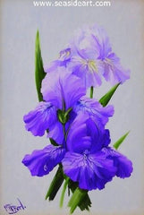 Amethyst Beauties is a miniature oil painting by Gail MacArgel