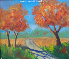 Autumn Shadows is an original painting by the Outer Banks, NC artist, Connie Cruise