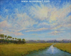 Bluebird Sky is an oil painting by Suzanne Morris
