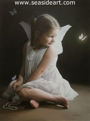 Butterflies and Pearls is an original work of art by the artist, Lynn Ponto Peterson