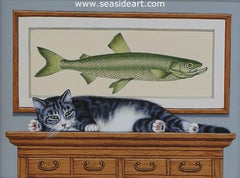 Dreaming of Fish is an original acrylic painting by artist, Sue Wall.