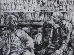 Connoisseurs is an ink drawing by Gary Spicer