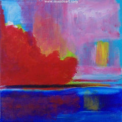 Daybreak Explosion is an abstract acrylic painting by Doug Brannon Outer Banks artist