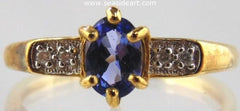 Tanzanite and Diamond ring in 14kt yellow gold