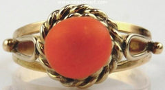14kt Yellow Gold and Coral Ring