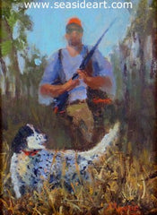 In the Field is an original oil painting on canvas by Suzanne Morris