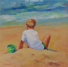 Little Boy of Summer is an acrylic painting on canvas by Janet Pierce.