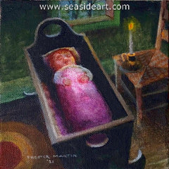 Little Virginia Dare is an original oil painting on canvas by Chester Martin