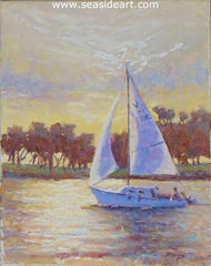 Morning Sail an original oil painting by Suzanne Morris.