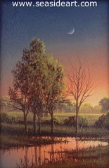 Morning Glow is a miniature oil painting by the artist, Clifford Bailey