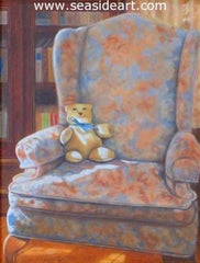 My Childhood Friend is a miniature oil painting on ivorine by artist, Beverly Abbott