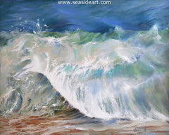 Ocean in Motion is an original oil painting on board by  Debra Keirce