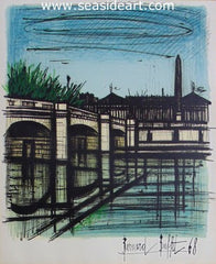 Place de la Concorde is an original lithograph by Bernard Buffet
