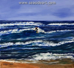 Riding the Waves an original acrylic painting by Bettye C. White