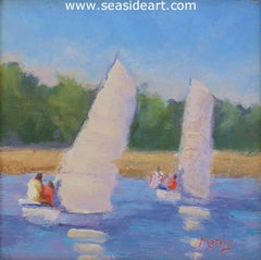 Sailing Twins is an oil painting by Suzanne Morris