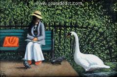 The Conversation an oil painting by Elizabeth Elgin
