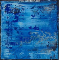 Untitled Blue is an abstract oil painting by Doug Brannon