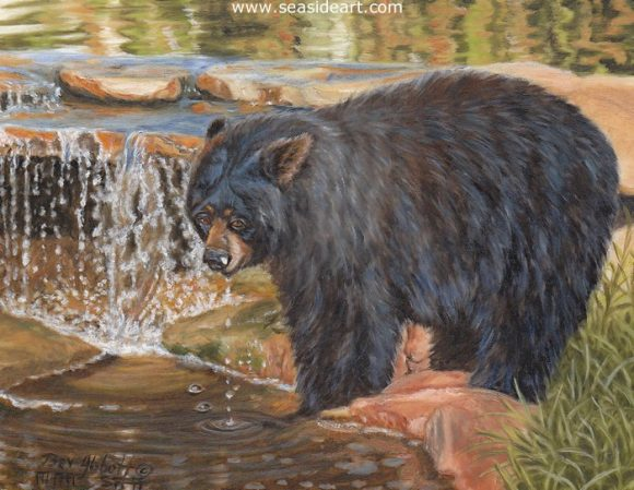 Waterfall Refreshment by Beverly Abbott - Seaside Art Gallery