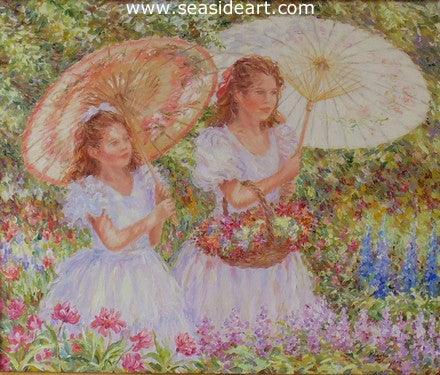 Parasols by Karin Schaefers - Seaside Art Gallery