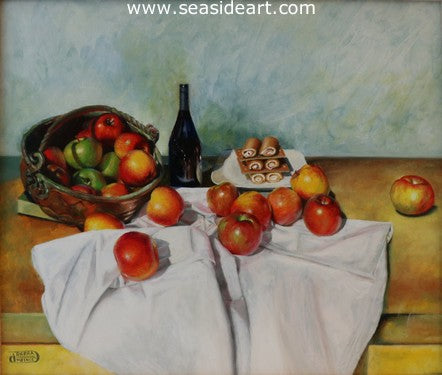 An Apple a Day by Debra Keirce - Seaside Art Gallery