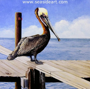 Bait Thief by Lauri Waterfield - Seaside Art Gallery