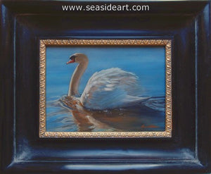 Alba-Mute Swan by Bonnie Latham - Seaside Art Gallery