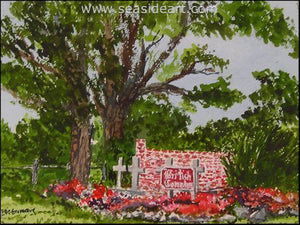 British Cemetary-Ocracoke, NC by W.E. (Ellie) Grumiaux Jr. - Seaside Art Gallery