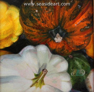 Bushel of Gourds by Debra Keirce - Seaside Art Gallery