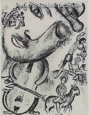Le Cirque No. 513 by Marc Chagall - Seaside Art Gallery