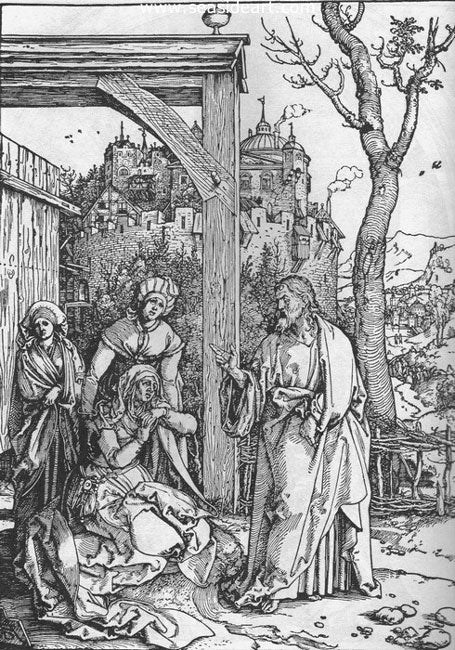 Christ Taking Leave From His Mother by Albrecht Dürer - Seaside Art Gallery