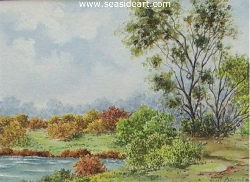 Fall Scene by Fini Beunis - Seaside Art Gallery