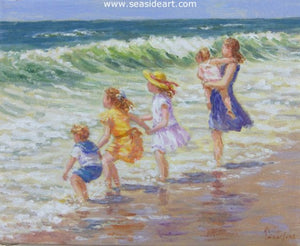 Family Fun by Karin Schaefers - Seaside Art Gallery