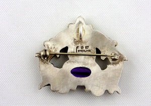 Carol Felley Sterling Silver Pin/Pendant-1997