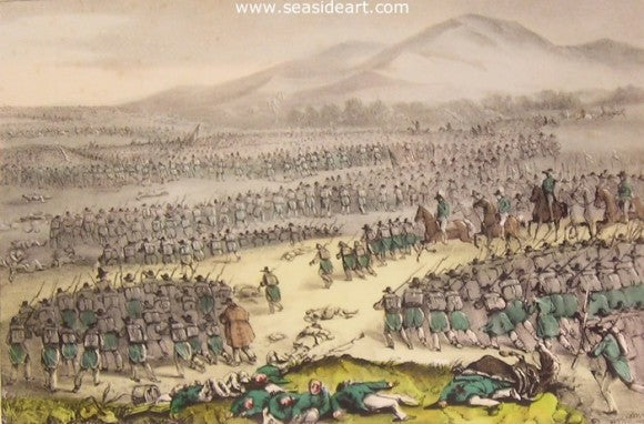 Flight of The Mexican Army by Currier & Ives - Seaside Art Gallery