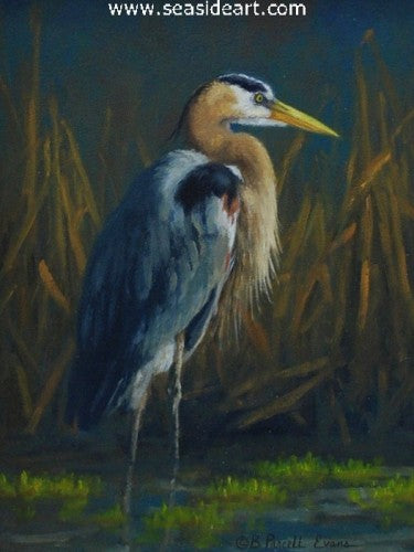 Great Blue by Beth Parcell - Seaside Art Gallery