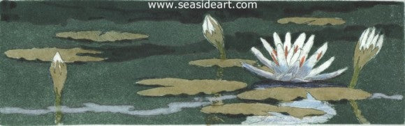 Lily Pond by David Hunter - Seaside Art Gallery