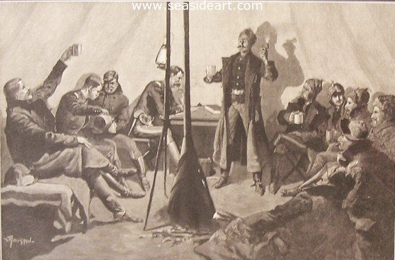 Merry Christmas In A Sibley Teepee by Frederic Sackrider Remington - Seaside Art Gallery