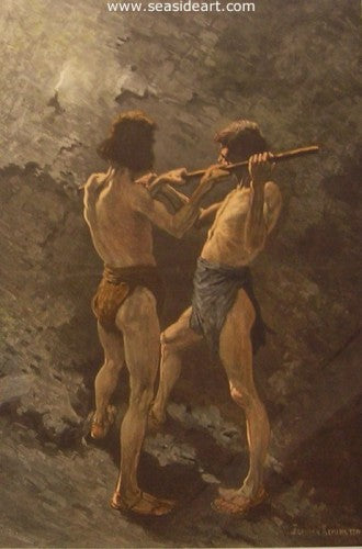 Mexican Miners At Work by Frederic Sackrider Remington - Seaside Art Gallery