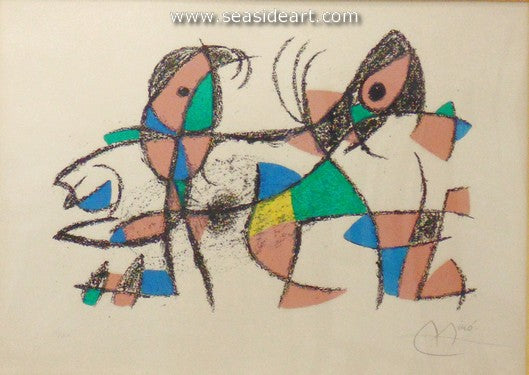 Lithograph II, 10th Lithograph by Joan Miró - Seaside Art Gallery