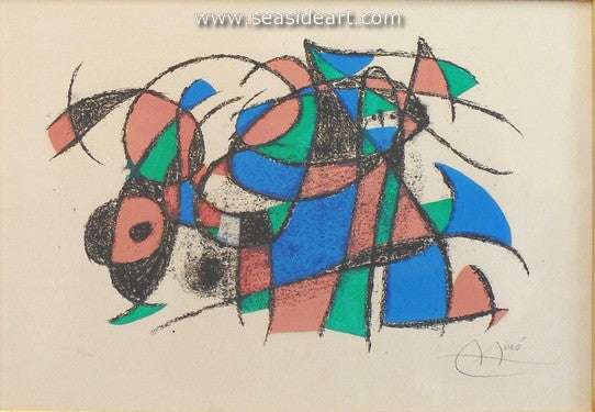 Lithograph II, 3rd Lithograph by Joan Miró - Seaside Art Gallery