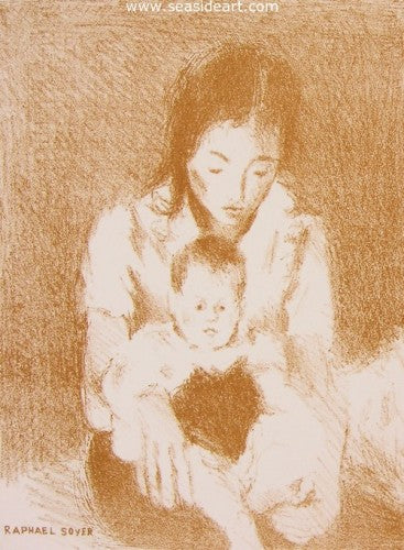 Mother and Child by Soyer Family - Seaside Art Gallery