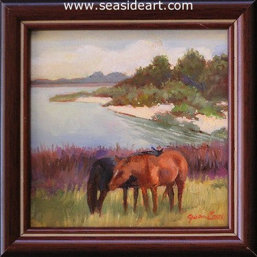 Overlooking The Sound by Jean Cook - Seaside Art Gallery